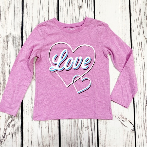 Children's Place Other - TCP Purple love LS shirt 5/6